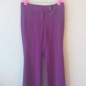 White House Black Market Bright Purple Flared Pant